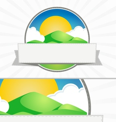 Clean mountain seal vector image