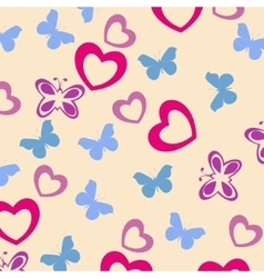 Cute baby seamless pattern vector image