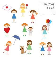 Little Girls vector image