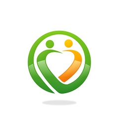 people love nature ecology logo vector image