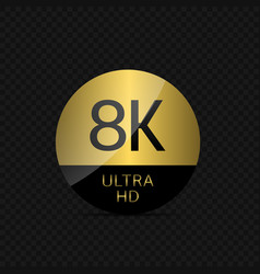 8k ultra hd icon vector