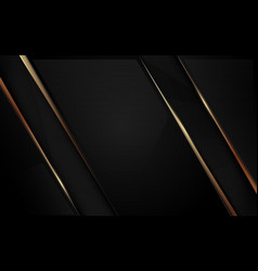 Abstract luxury black and gold background vector