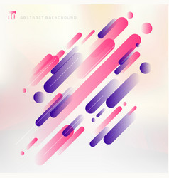 Abstract technology pink and purple geometric vector