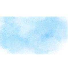 Abstract watercolor sky and clouds vector