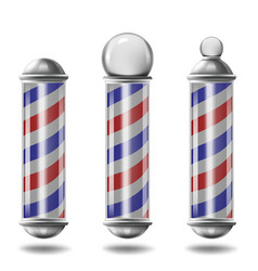 Barber pole set isolated vector