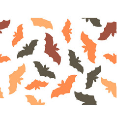 bats seamless pattern on white background vector image
