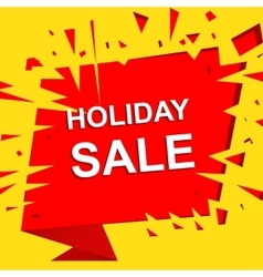 Big sale poster with HOLIDAY SALE text vector