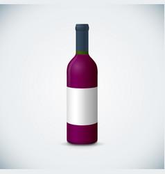 blank wine bottle mockup vector image