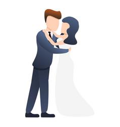 Bride wedding dance icon cartoon style vector