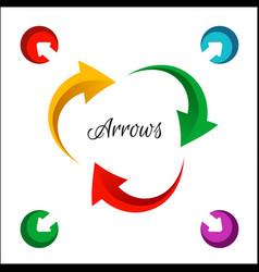 bright circle arrows flow icon vector image