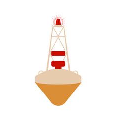 buoy flat icon cartoon vector image
