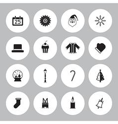 Christmas icon set circle vector