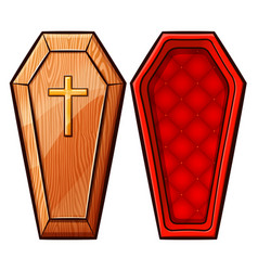 Coffin on white background vector