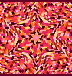 Colorful geometrical dynamic circular mosaic vector