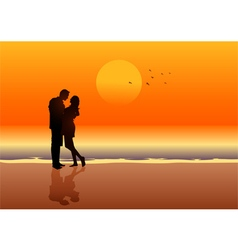 Couple At The Beach vector image