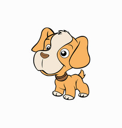 Cute little dog animal vector