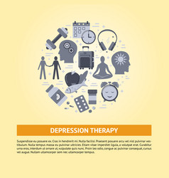 depression treatment banner template in flat style vector image
