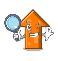 detective arrow character cartoon style vector image
