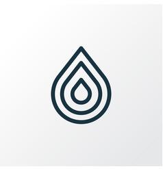 Drop icon line symbol premium quality isolated vector