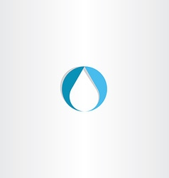 drop water icon logo blue symbol vector image