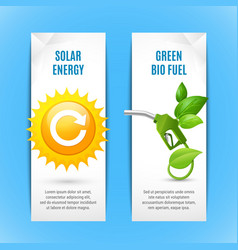 ecology vertical banners in paper style vector image
