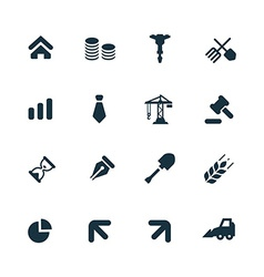 Economy icons set vector