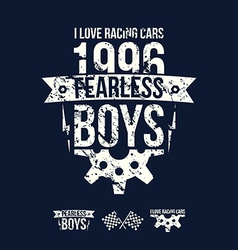 Emblem fearless riders boys in retro style vector