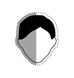 Faceless men cartoon vector