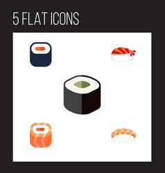 Flat icon sashimi set of gourmet seafood maki vector
