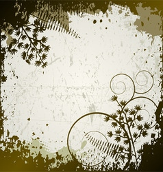 floral background leaves vector image