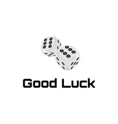 good luck award craps concept shiny realistic vector image
