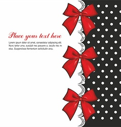 Greeting Card with Bows vector image