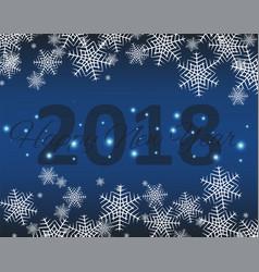 happy new 2018 year seasons greetings snowflakes vector image