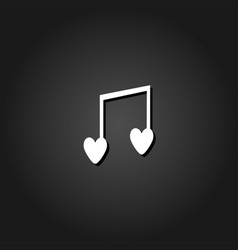 i love music icon flat vector image