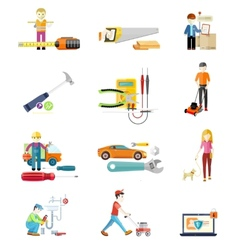 Icons Set of Tools Series vector image