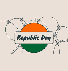 indian republic day concept vector image