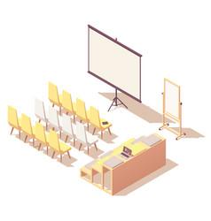 isometric presentation room interior vector image