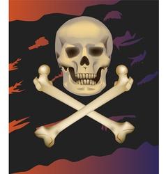 Jolly roger skull and crossbones vector