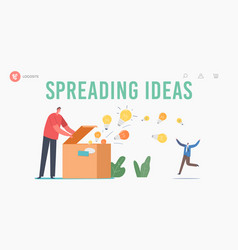 Knowledge and ideas spreading education insight vector