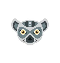 Lemur African Animals Stylized Geometric Head vector