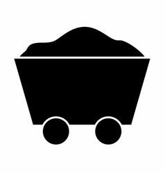 Mine cart icon vector