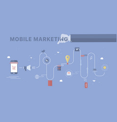 mobile marketing background vector image
