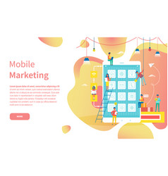 modern device mobile marketing online web page vector image