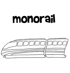 Monorail hand draw vector