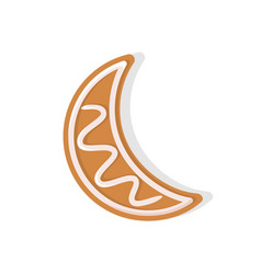 moon crescent shaped cookie made of gingerbread vector image