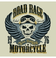 Motorcycle T-shirt Design vector