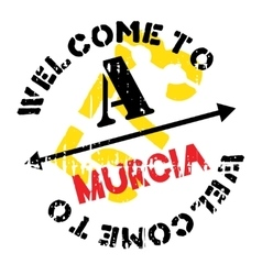 Murcia stamp rubber grunge vector