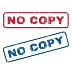 No Copy Rubber Stamps vector