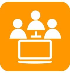 Online Help vector image