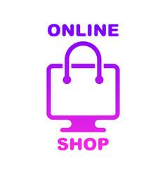 online shop online store logo logotype for vector image